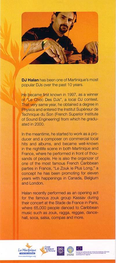 Bio DJ HALAN par le CMT pour  New-York